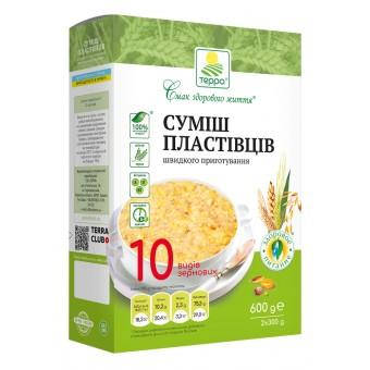 Суміш пластівців 10 видів зернових швидкого приготування