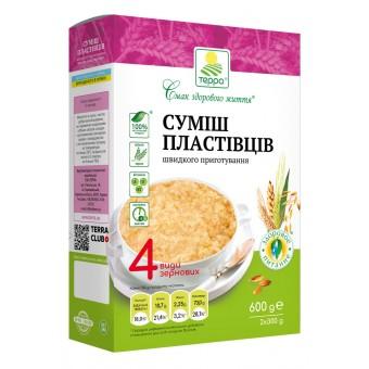 Суміш пластівців 4 види зернових швидкого приготування