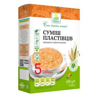 Суміш пластівців 5 видів зернових швидкого приготування