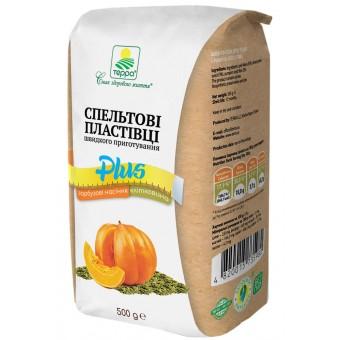 Пластівці спельтові швидкого приготування + гарбузове насіння і клітковина