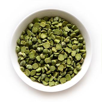 Горох зеленый колотый шлифованный первого сорта