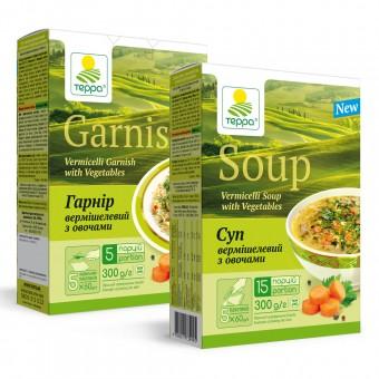 Суп-гарнір вермішелевий з яловичиною та овочами